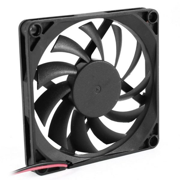 YOC-5* Sale 80mm 2 Pin Connector Cooling Fan for Computer Case CPU Cooler Radiator
