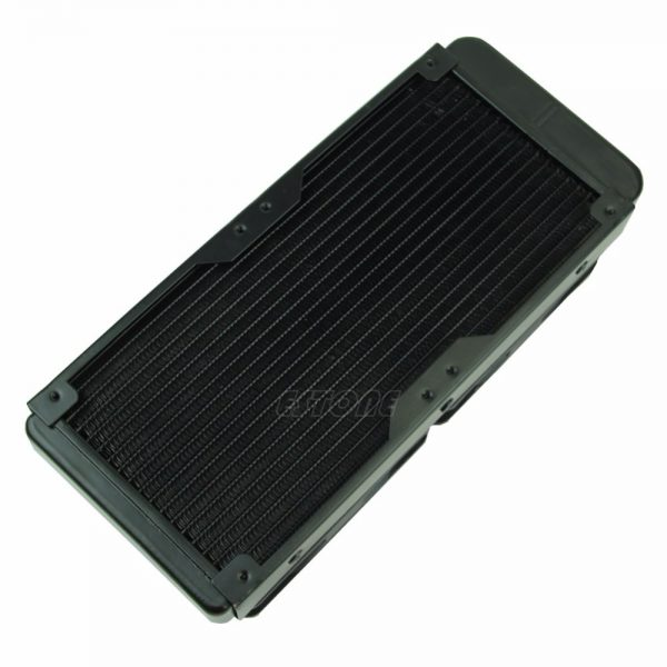 Aluminum G1/4 240mm 2 Fans Radiator Computer Desktop Water Cooling Thick 60mm for Computer CPU Cooling System High Quality C26