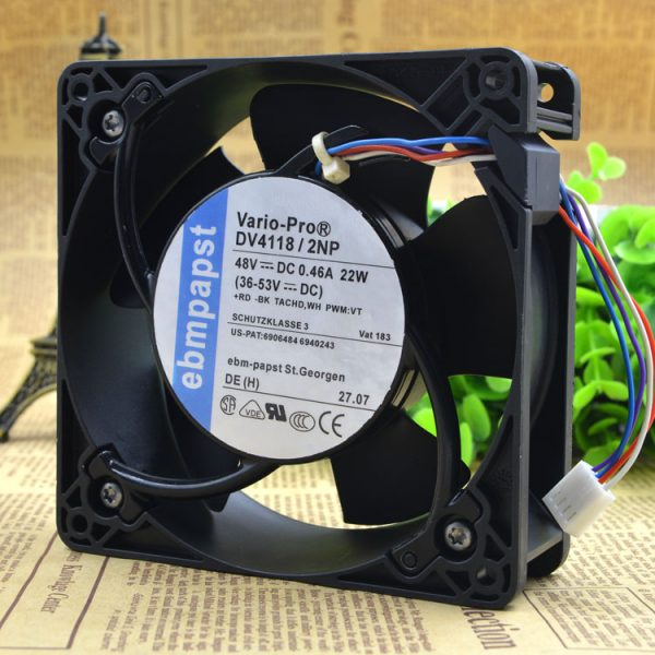 Free Delivery. 12038 DV4118 48 v 0.44 A 22 w / 2 np PWM speed regulating IP54 waterproof fan