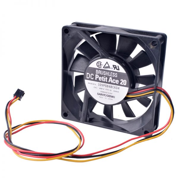 Sanyo 109P0848C604 48V 0.08A double ball 8CM silent cooling fan