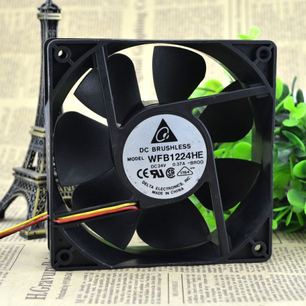 New original WFB1224HE-BROO 12038 12CM 24V 0.50A 3-wire inverter fan