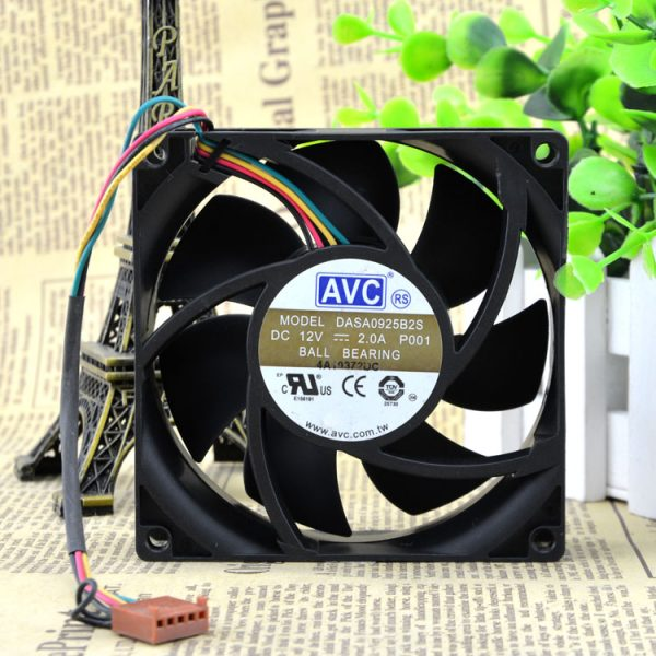 New original DASA0925B2S 12V 2.0A 9CM 9025 4-wire PWM temperature control fan