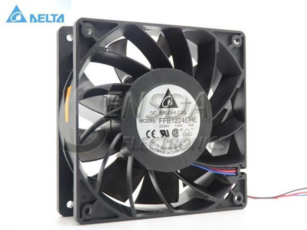 DELTA Blowers FFB1224EHE-F00 1238 12038 12cm 120mm 24V 1.5A wind capacity strong wind server inverter cooling fan