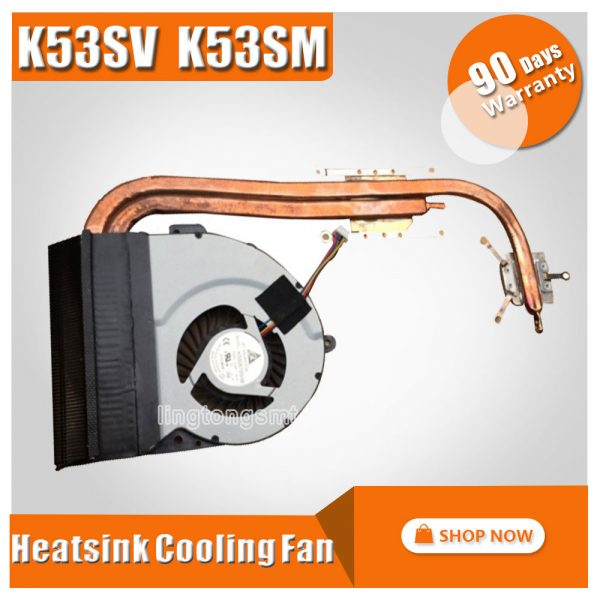 For ASUS K53 X53 K53S A53S X53S K53SV K53SM K53SJ K53SC Laptop CPU Cooling Fan Heatsink Heat Sink Cooler 13N0-KDA0102 KSB06105HB