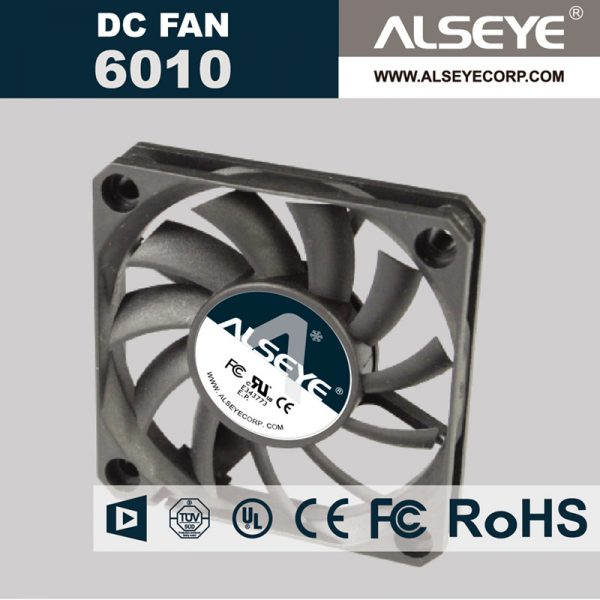 ALSEYE 6010RVL-N1 (5piece/lot) 60mm DC 12V Cooling Fan 0.15A 2400RPM Axial fan for Electrical repair