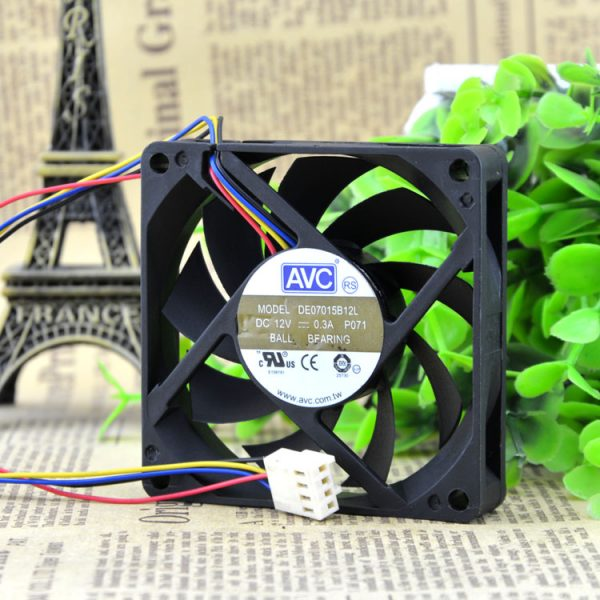 Brand new original 7015 ball PWM four-pin fan CPU fan 7CM AMD intelligent speed DE07015B12L
