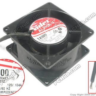 Nidec A30473-20 TA300 Server Square Cooling Fan AC 115V 0.120A 80x80x38mm 2-wire