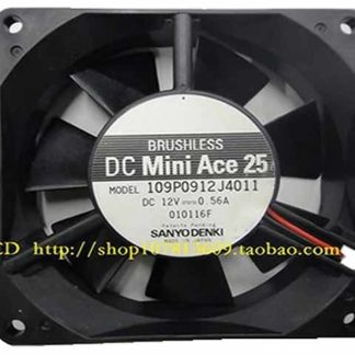 SANYO 109P0912J4011 DC 12V 0.56A 90X92X25mm Server Square Fan
