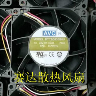 AVC 80*80*38 48V 0.63A DYTB0838B8U four wire cooling fan