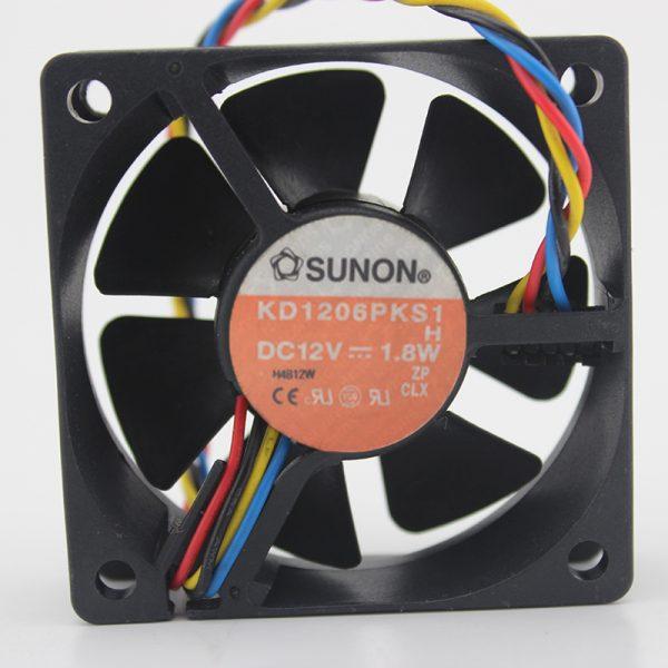 Original / KD1206PKS1 DC 12V 1.8W 6020 Silent cooling fan 6cm
