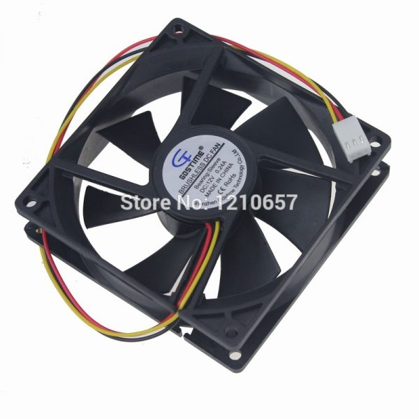 2 PCS LOT Gdstime 9225 92mm 92x25mm 9.2cm DC 12V 3P Cooing cooler Radiator Axial Fan
