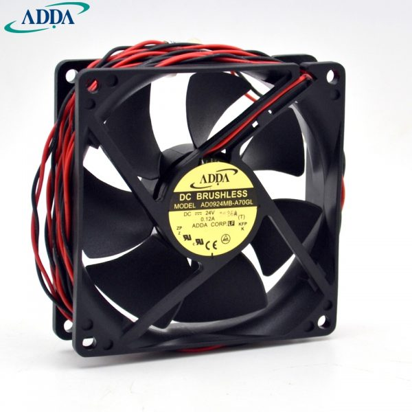 Original new AD0924MB-A70GL 9025 24V 0.12A 9CM inverter cooling fan for ADDA 90*90*25