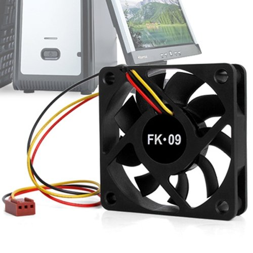 GTFS-CPU fan radiator fan 60 x 60 mm Box Computer - Black