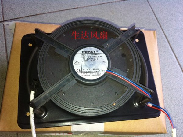 ebm-papst TYP RDE 110-25/24R/C01 DC 24V 2.4W 2-wire Server Round cooling Fan