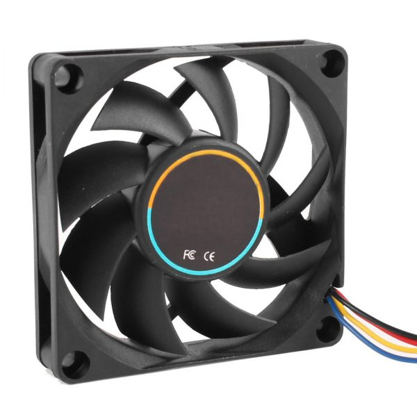 GTFS Hot 70mmx15mm 12V 4 Pins PWM PC Computer Case CPU Cooler Cooling Fan Black