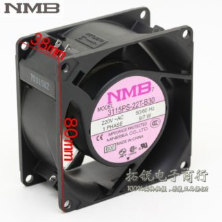 NMB 3115PS-22T-B30 8038 8cm 220V 9 / 7W AC aluminum metal frame axial cooling fan