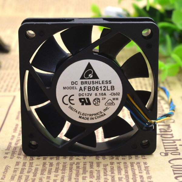 New Original 6015 6CM AFB0612LB 12V 0.10A 4-wire PWM temperature control CPU mute cooling fan