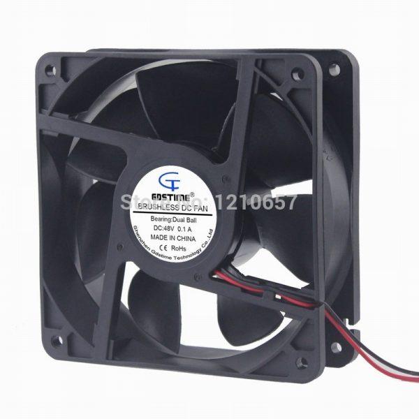 10PCS Lot Gdstime DC 48V 0.15A 2Pin Daul Ball 12CM 120MM 120x38mm Industrial Ventilation Cooling Fan