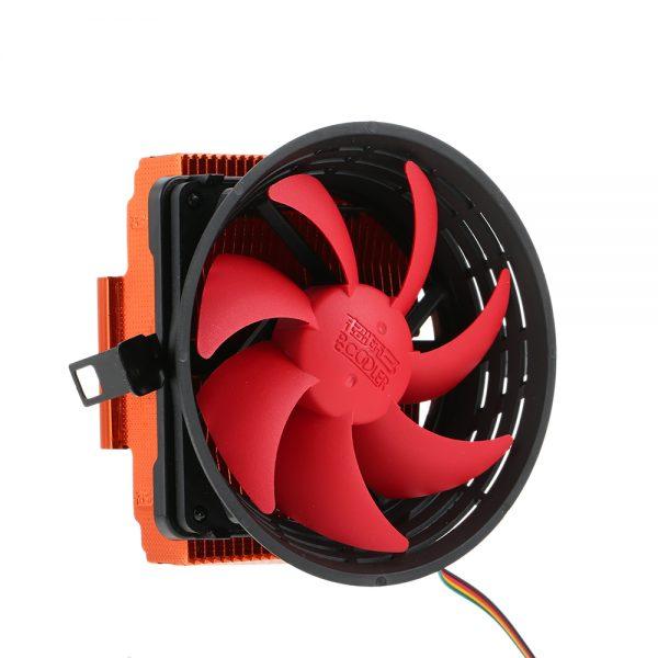 PCCOOLER CPU Cooler 3pin Mini CPU Cooler Heatsink Fan Cooling with 80mm Cooling Fan for Desktop Computer