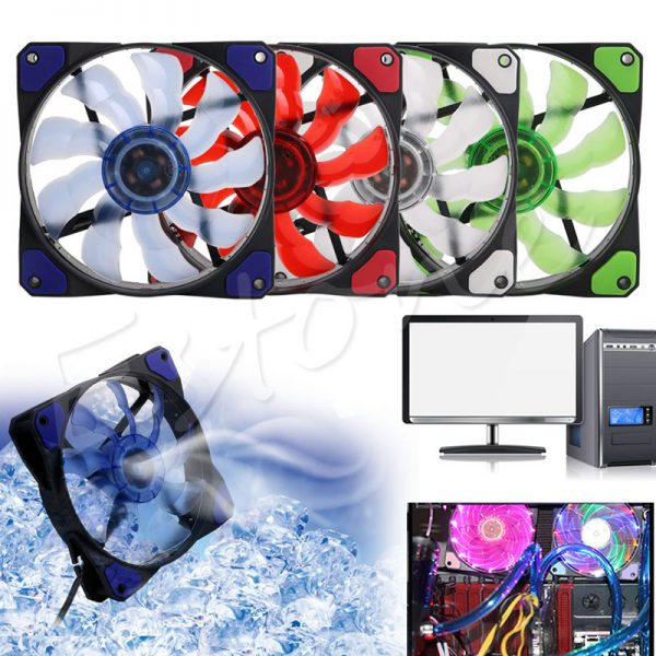 3Pin/4Pin 1200RPM 120mm PWM Speed Control CPU Cooler Cooling LED Case Fan for PC