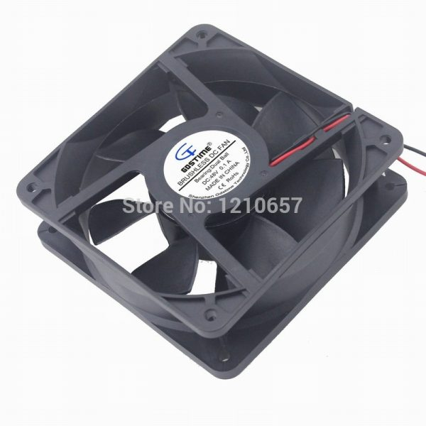 1PCS Gdstime 120mm X 38mm 12cm Ball Bearing DC 48V 0.15A Server Square Axial Cooling Fan