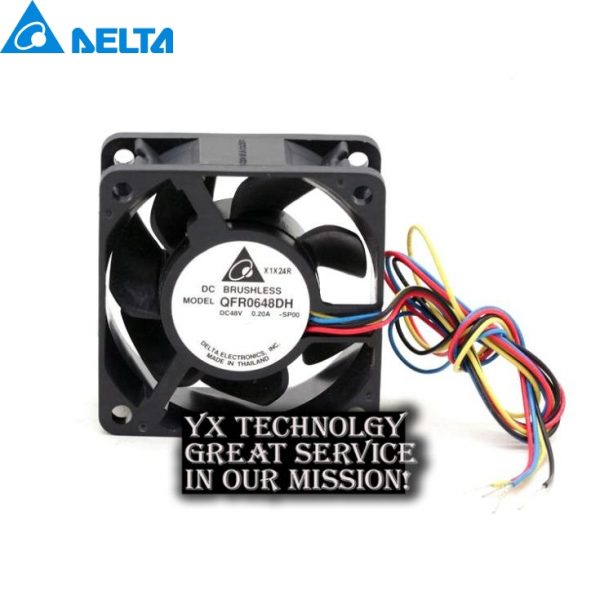 60*60*25mm QFR0648DH 48V 0.20A 6025 6CM four-wire PWM fan for delta
