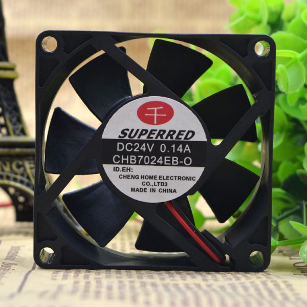 Free Delivery.CHB7024EB -o 24 v 0.14 A 7 cm / 7020 2 line inverter fan