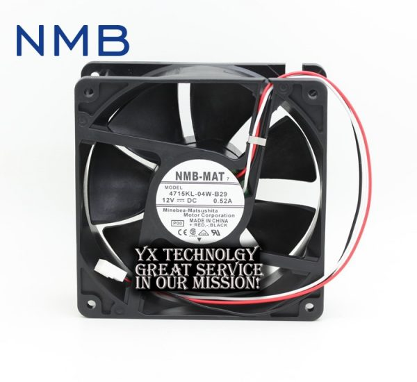NMB New Original 4715KL-04W-B29 12038 12V 0.52A three wire speed cooling fan 120*120*38mm
