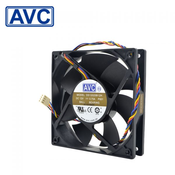 Free shipping original AVC DS12025B12H P001 120x120x25mm 12025 DC 12V 0.75A Cooling Fan pwm