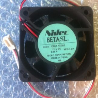 NIDEC 60*60*25mm DC 12V 0.25A D06T-12TS2 6CM 2 Wire Chassis Power Supply Inverter Cooling Fan