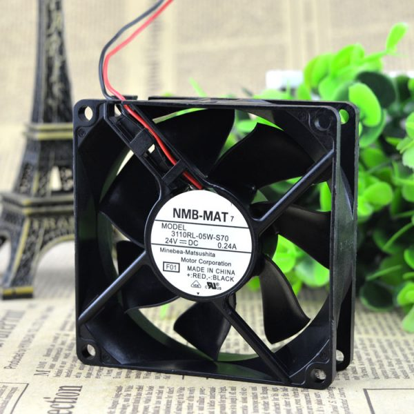 Free Delivery. 3110 rl - 05 w - S70 24 v 0.24 A 8025 8 cm 2 line inverter fan