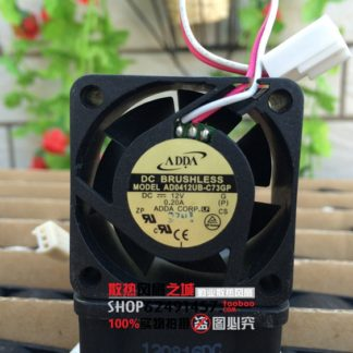 Original ADDA AD0412UB-C73GP DC 12V 0.2A 4020 40*40*20mm 4cm 3-wires cooling fan