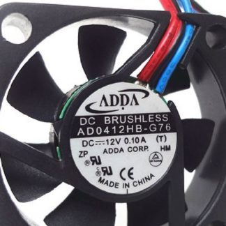 Original ADDA AD0412HB-G76 DC 12V 0.1A 3-wires 40*40*10mm 4CM 4010 Cooling Fan
