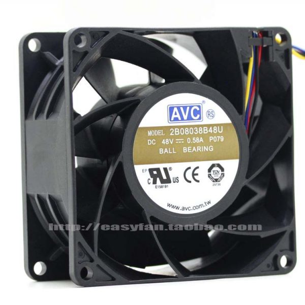 NEW AVC 2B08038B48U 8038 8CM 48V 0.58A cooling fan