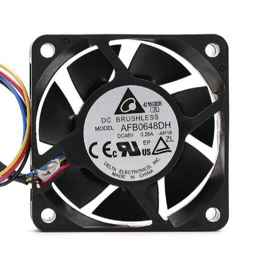 DELTA AFB0648DH 6025 6CM 48V 0.26A Four-wire PWM Speed regulating Heat dissipation Fan