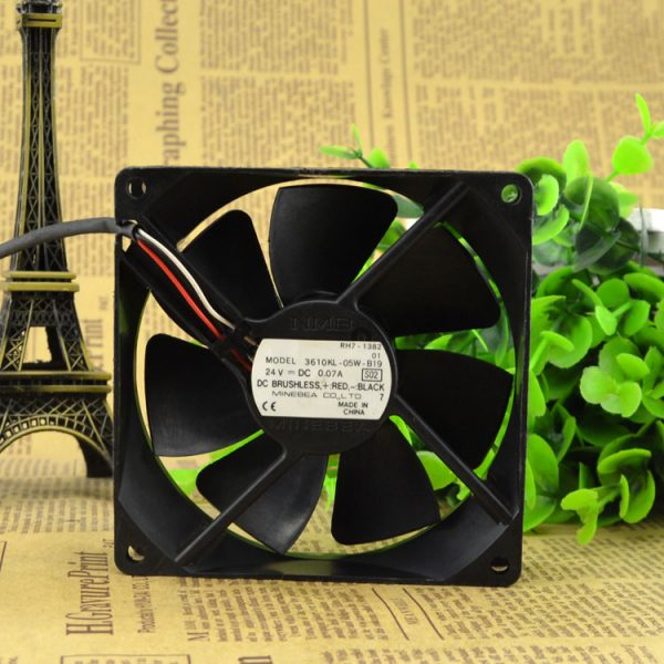 NIDEC D08R-24TM 01B (IX) 8CM 24V 0.13A 80*80*15mm 3Z08E2 3 Wire NBR Bearing Inverter Fan
