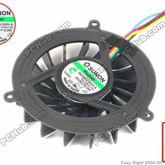 SUNON GC055510VH-A 13.V1.B3925.F.GN Server Round Cooling Fan DC 5V 2.0W 4-wire