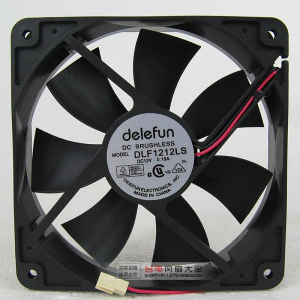 Delefun DLF1212LS 12V 0.18A 12CM 12025 120 * 120 * 25MM cooling fan