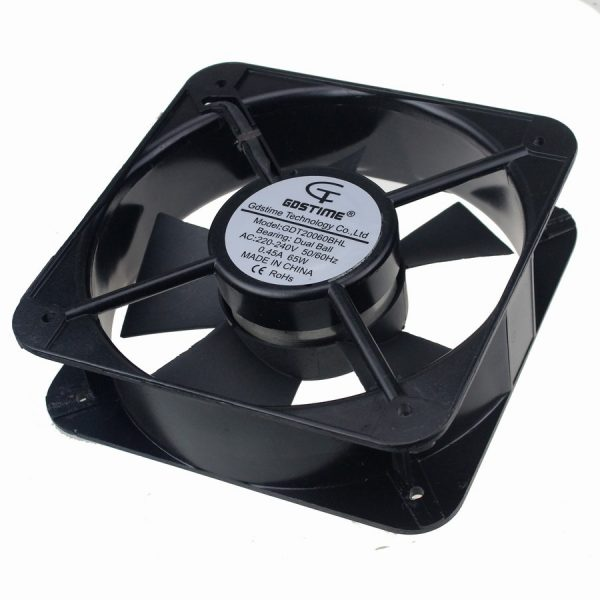 8PCS Gdstime 20CM 200*200*60 MM 20060 220V AC Double Ball Bearing Case Industrial Axial Fan