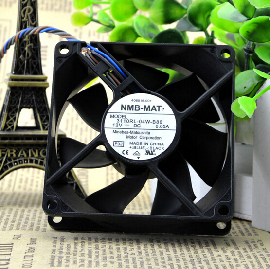 NMB 3110RL-04W-B86 12V 0.65A 4-wire pwm temperature control chassis cooling fan