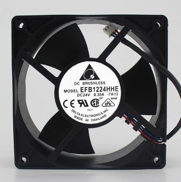 Wholesale Delta 12038 12CM EFB1224HHE DC 24V 0.30A 3-line Double Ball Cooling Fan Inverter