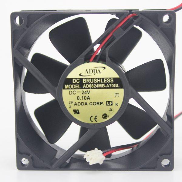 Original ADDA 8025 80*80*25mm 8CM AD0824MB-A70GL DC 24V 0.10A 2 line inverter cooling fan