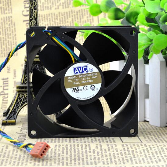 AVC 9038 9CM DESA0938B2M 0.75A 4 line PWM temperature control double ball fan