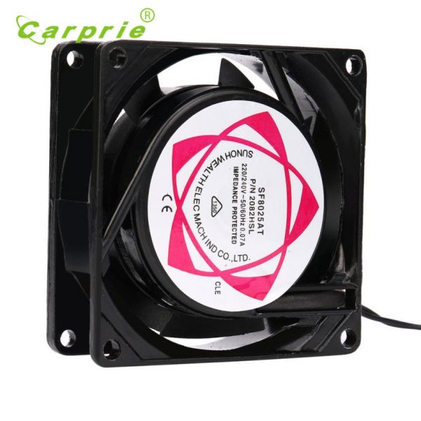 Carprie New 220V 240V 8cm 80mm x 80mm x 25mm AC Metal Brushless Cooling Industrial Fan 17Jul14 Dropshipping