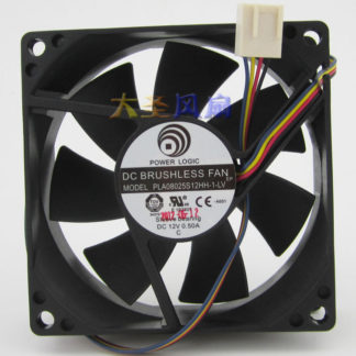 New Original PLA08025S12HH-1-LV 8025 DC 12v 0.50A 4wire PWM computer cooling fan FONSONING