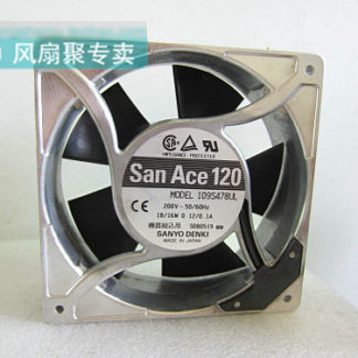 Original SANYO 12CM 12038 109S478UL 200V18/16W aluminum frame cooling fan