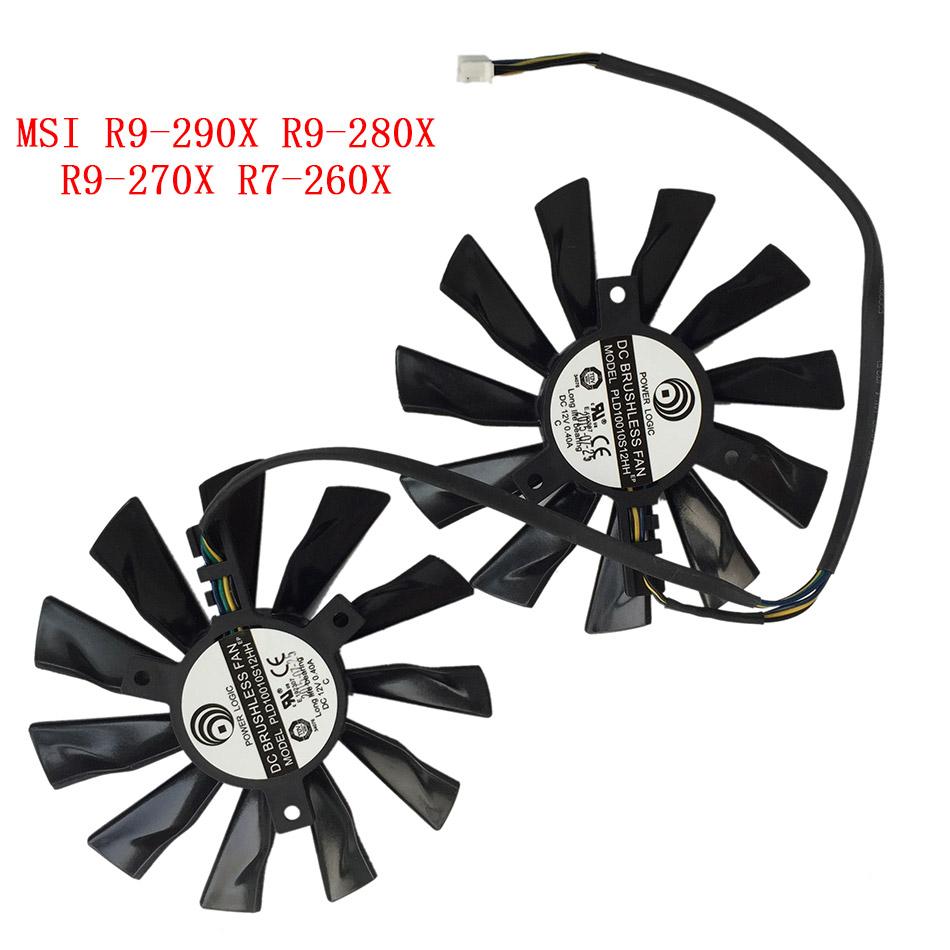 New Original Cooling Fan For MSI R9-290X R9- 280X R9-270X R7-260X GAMING  PLD10010S12HH Laptop Cooler Radiators Cooling Fan