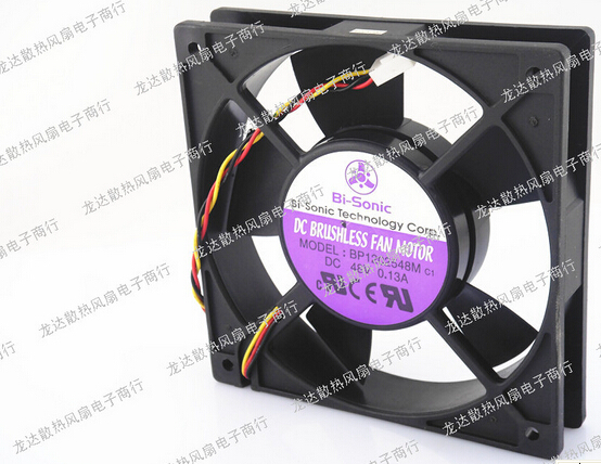 The original Bi-Sonic BP1202548M 12CM 12025 48V 0.13A 3P line support speed alarm double ball fan