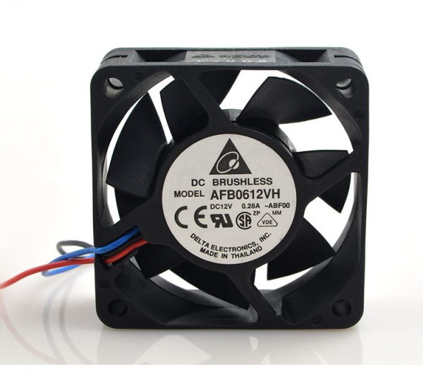 New original 6CM 6025 12V 0.30A AFB0612VH-R00 three-wire double ball chassis power supply fan