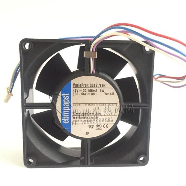 New ebmpapst 3318 / 19H 48V 5W 9CM 9232 92 * 92 * 32mm four-wire inverter cooling fan
